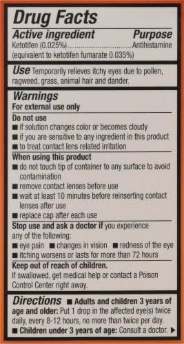 Alcon Zaditor Antihistamine Eye Drops Perspective: back