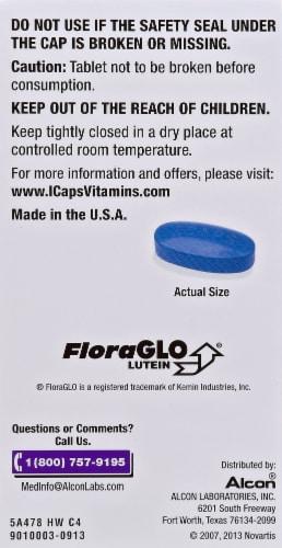 Alcon I-Caps Multi-Vitamin Tablets Perspective: back