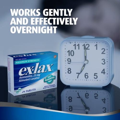 Ex-Lax Maximum Strength Stimulant Laxative Pills 25mg Perspective: back