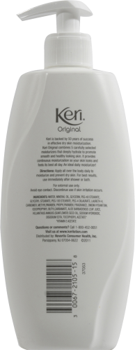 Keri Daily Dry Skin Therapy Lotion Continuous Moisturization Perspective: back