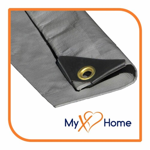"""VS Connections - 12 Mil Heavy Duty Tarp - Canopy - Multipurpose Protective Cover - 8"""" x 12"""" Perspective: back"""