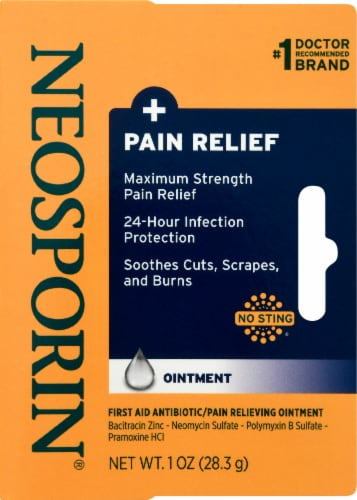 Neosporin Max Strength Dual Action Pain Relief Ointment Perspective: back