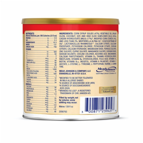 Enfamil Nutramigen with Enflora LGG Infant Formula Powder Perspective: back
