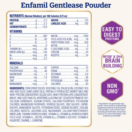 Enfamil NeuroPro Gentlease Powder Infant Formula Perspective: back