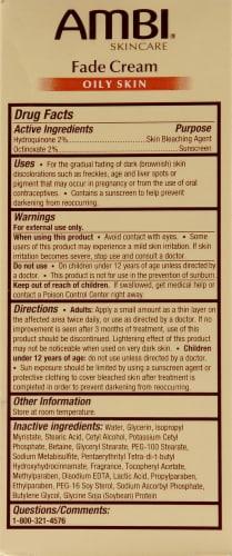 Ambi Oily Skin Fade Cream Perspective: back