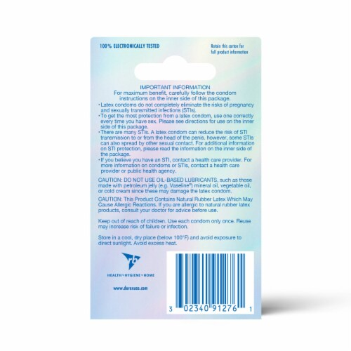 Durex Invisible Ultra Thin Ultra Sensitive Lubricated Latex Condoms Perspective: back