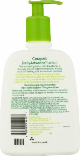Cetaphil DailyAdvance Ultra Hydrating Shea Butter Lotion Perspective: back