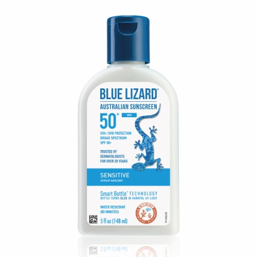 Blue Lizard Sensitive Sunscreen SPF 50 Perspective: back