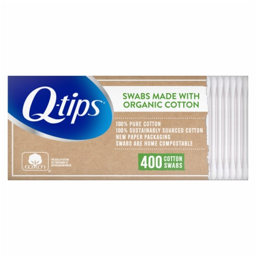 Q-tips Organic Cotton Swabs Perspective: back