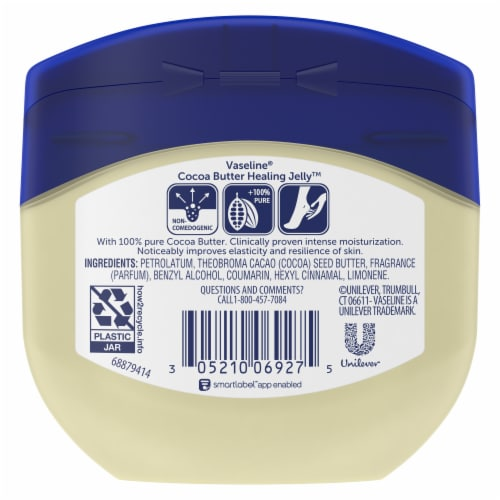 Vaseline Cocoa Butter Petroleum Jelly Perspective: back