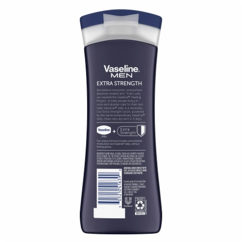 Vaseline® Men Extra Strength Body & Face Lotion Perspective: back
