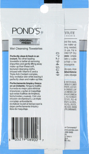 Pond's Wet Cleansing Towelettes Perspective: back