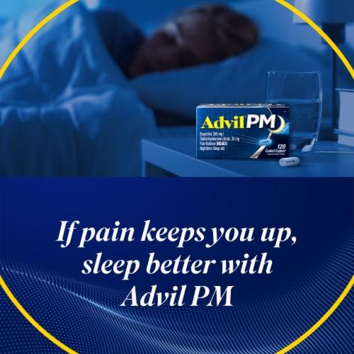 Advil PM Ibuprofen Coated Caplets 200mg Perspective: back
