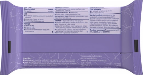 Preparation H® Women's Medicated Hemorrhoidal Flushable Wipes Perspective: back