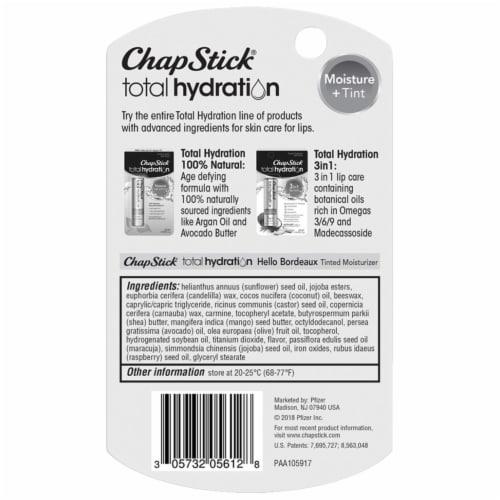 ChapStick Total Hydration Moisture & Tint Hello Bordeaux Tinted Moisturizer Perspective: back