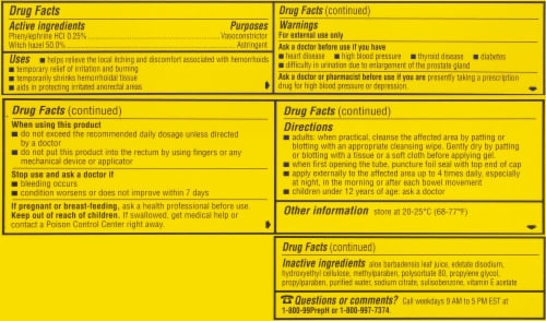 Preparation H Hemorrhoidal Cooling Gel Perspective: back