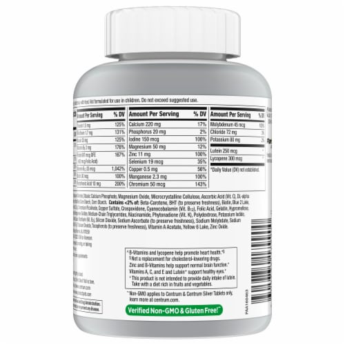 Centrum® Silver® Adults 50+ Multivitamin Perspective: back