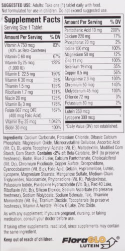 Centrum Silver Adults 50+ Multivitamin Supplement Tablets Perspective: back