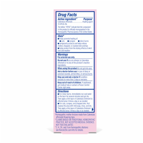 Boiron Calendula First Aid Ointment Perspective: back
