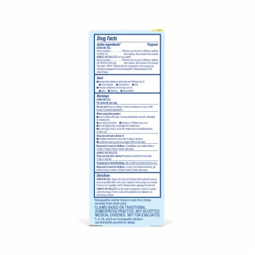 Boiron Arnicare Pain Relief Gel Value Size Perspective: back