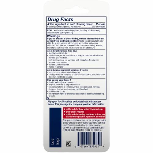 Nicorette® Cinnamon Surge Nicotine Gum 2mg Perspective: back