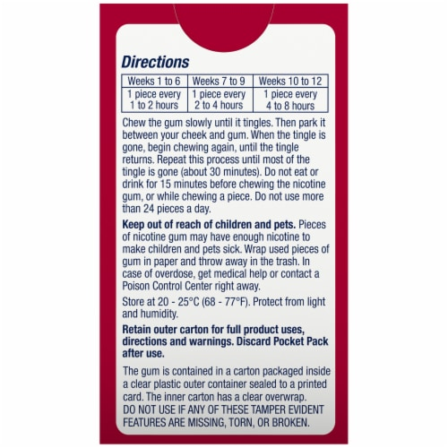 Nicorette Cinnamon Surge Nicotine Gum 4mg Perspective: back