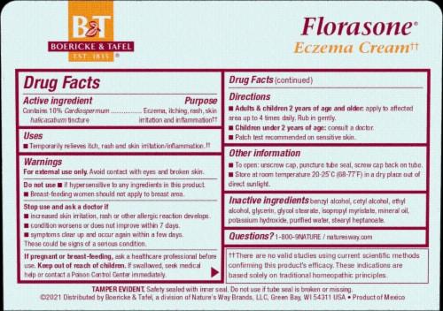 Boericke & Tafel Florasone Cardiospermum Itches & Rashes Perspective: back