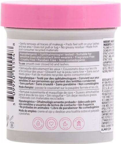 Almay Biodegradable Eye Makeup Remover Pads Perspective: back