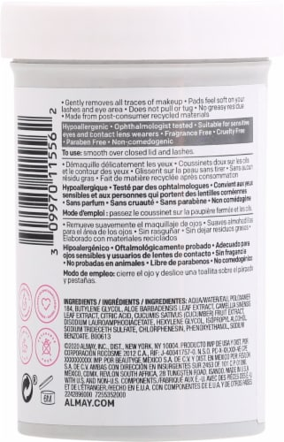 Almay Biodegradable Oil Free Micellar Eye Makeup Remover Pads Perspective: back