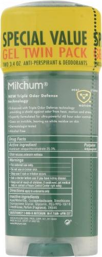 Mitchum Men's Advanced Control Unscented Gel Deodorant Perspective: back