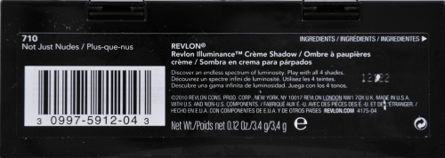 Revlon Illuminance Not Just Nudes Creme Eye Shadow Palette Perspective: back