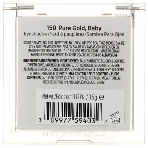 Almay Eyeshadow 150 Pure Gold Baby Perspective: back