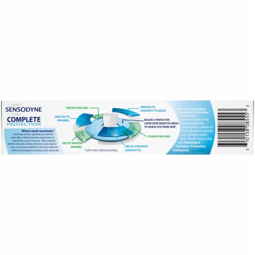 Sensodyne Complete Protection Sensitivity Toothpaste Perspective: back
