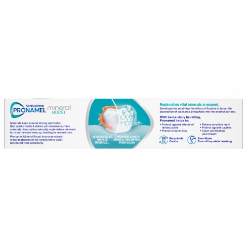 Sensodyne Pronamel Mineral Boost Whitening Toothpaste Perspective: back