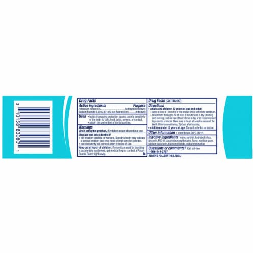 Sensodyne Pronamel Fresh Breath Sensitivity Toothpaste Perspective: back