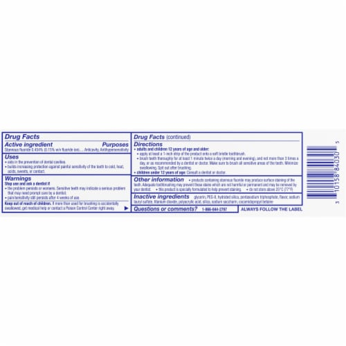 Sensodyne Repair & Protect Extra Fresh Sensitivity Flouride Toothpaste Perspective: back