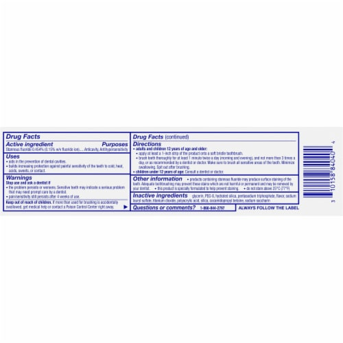 Sensodyne Repair & Protect Toothpaste Perspective: back