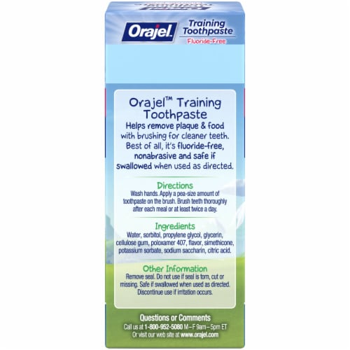 Orajel Paw Patrol Fruity Fun Training Toothpaste Perspective: back