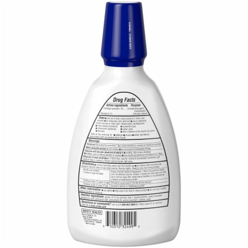 Orajel Mouth Sores Antiseptic Rinse Perspective: back