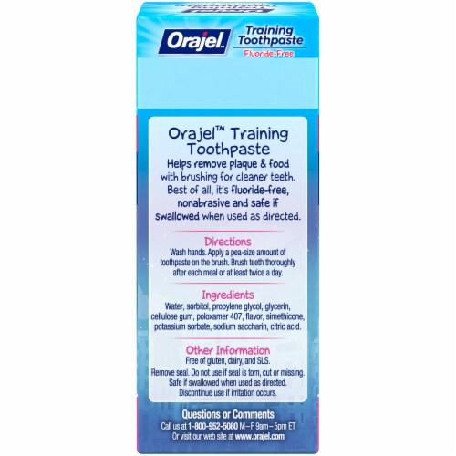 Orajel Vampirina Midnight Berry Fluoride-Free Training Toothpaste Perspective: back