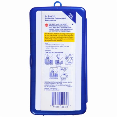 Dr. Scholl's Dual Action Freeze Away Treatment Kit Perspective: back
