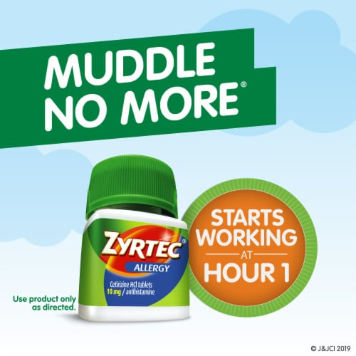 Zyrtec 24-Hour Allergy Relief 10mg Tablets Perspective: back