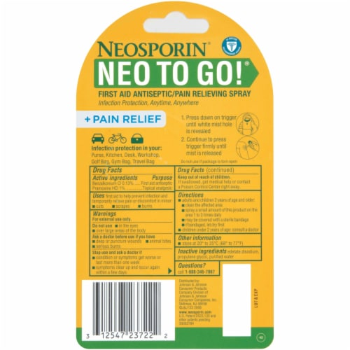 Neosporin To-Go Spray Pump Perspective: back