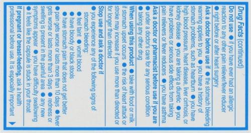 Aleve Naproxen Sodium 220mg Liquid Gels Perspective: back