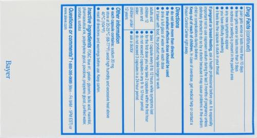Aleve Arthritis Naproxen Sodium Liqui-Gels 220mg Perspective: back