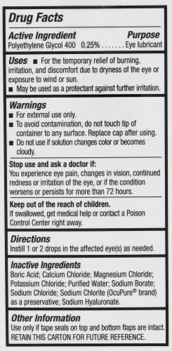 Blink Gel Tears Lubricating Eye Drops Perspective: back
