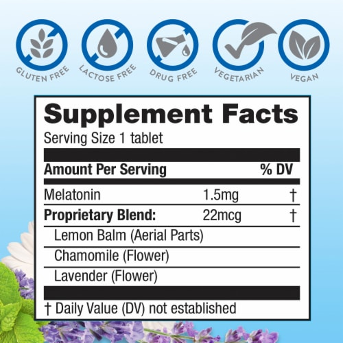 MidNite Cherry Sleep Aid Chewable Tablets Perspective: back