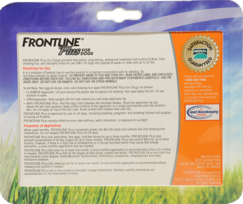 Frontline Plus Small Dogs Flea & Tick Perspective: back