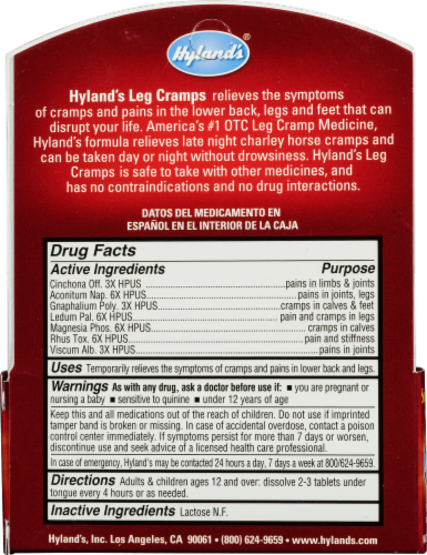 Hyland's Homeopathic Leg Cramps Tablets Perspective: back