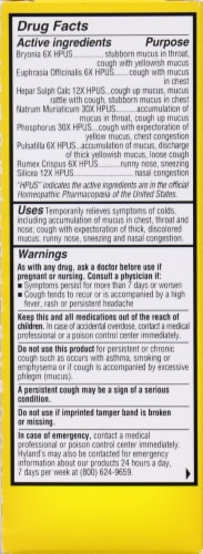 Hyland's Homeopathic 4Kids Cold & Mucus Perspective: back